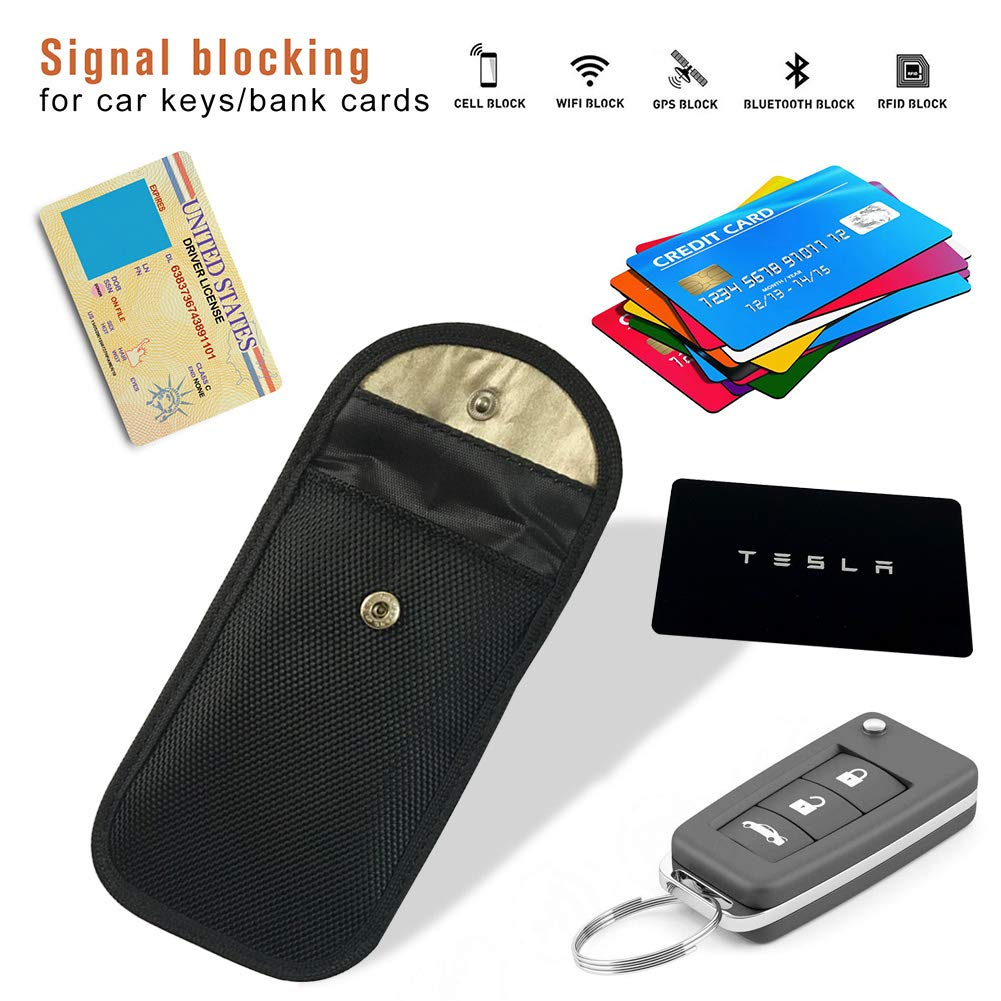 Amazon.com: Faraday Bolsa, Llavero Protector RFID Blocking 2 ...