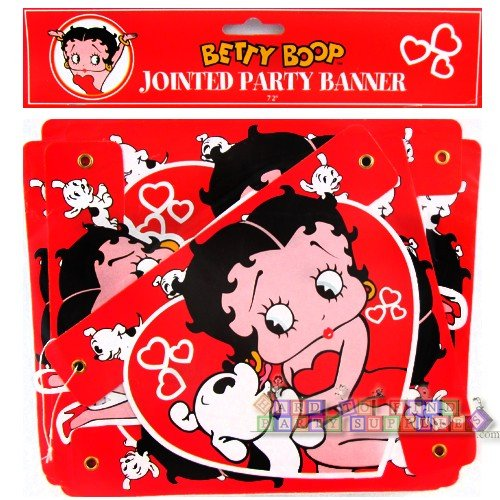 Betty Boop Jointed Party Banner