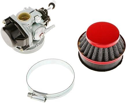 GOOFIT gold Cylinder kit Carburetor Air Filter ignition coil Set Big Bore Piston For 47cc 49cc 2 stroke Engine Pocket Bike Atv Quad Motocross
