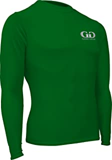 product image for HT-603L-CB Men's and Women's Athletic Compression, Long Sleeve Crew Neck Shirt-Used for Running, Softball, Football, Cross Training, and Gym Workouts (Small, Kelly Green)