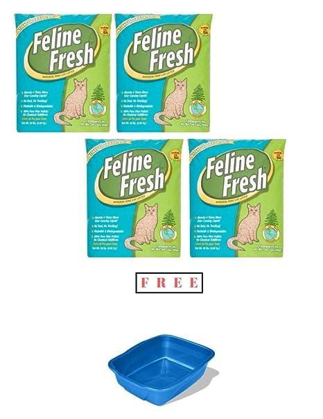 Amazon.com: Feline Fresh Natural - Arena de pino para gato ...