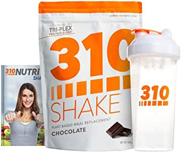 Chocolate Plant Protein Powder and Meal Replacement Shake | Gluten, Soy Protein, and Dairy Free - 0g of Sugar | Keto and Paleo Friendly | Includes Clear Shaker and Recipe eBook (Digital) | 28 Servings