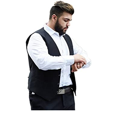 Luxfan Men\'s Business Wedding Party Vest V-Neck Formal Dress Suit ...