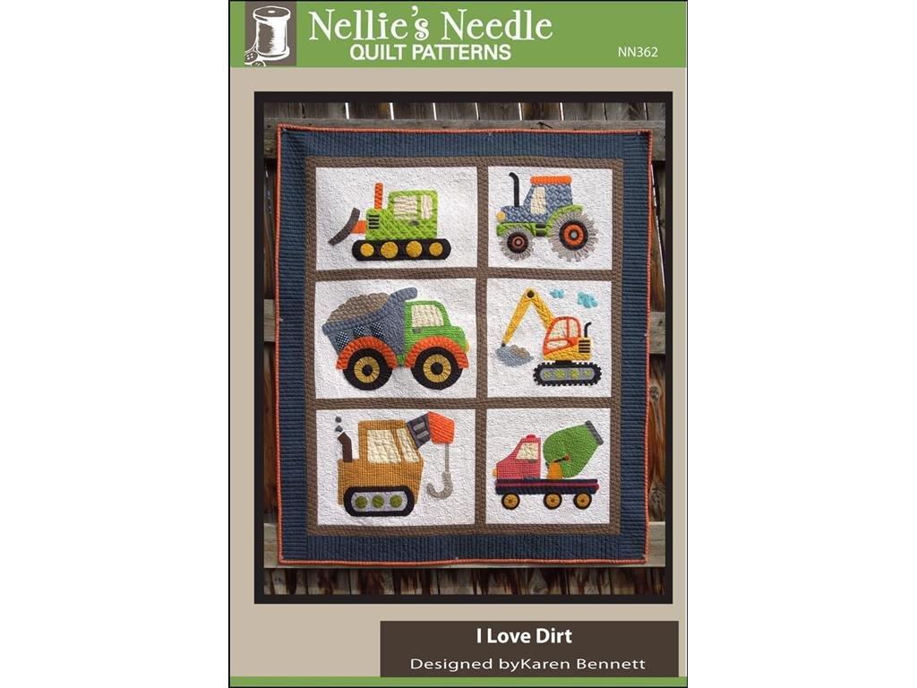 Nellie's Needle NNN362 I Love Dirt Quilt Ptrn I Love Dirt Quilt Ptrn