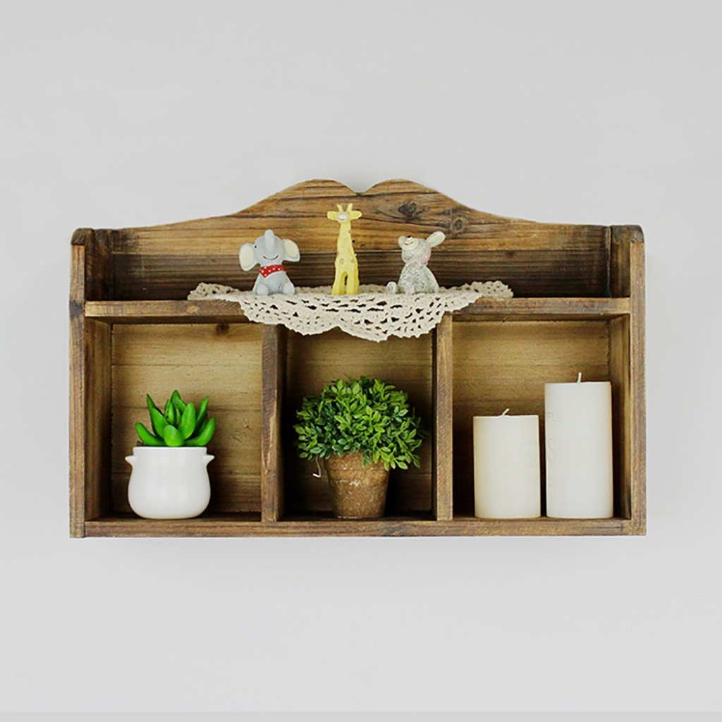 BGCG American Retro Solid Wood Kitchen Cabinets, Restaurant Hanging Cabinets, Balcony Hanging Cabinets, Wall Racks Decorated Cabinets Storage cabinets