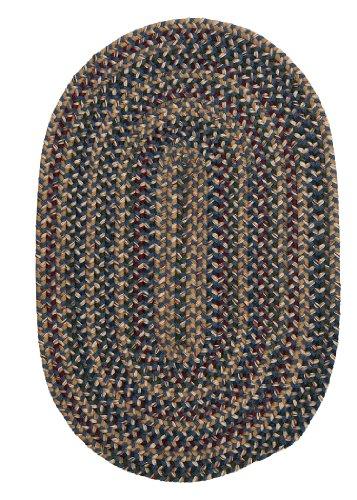 Twilight Area Rug, 4' x 6', Federal Blue Blue Braided Wool Rug