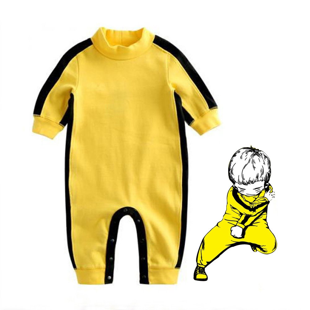 Baby Infant Toddler Clothing Gift Bruce Lee Style Baby Boys' Funny Romper Age 12 to 18 Months Old Boys' Bodysuits Baby One-Pieces J.M.