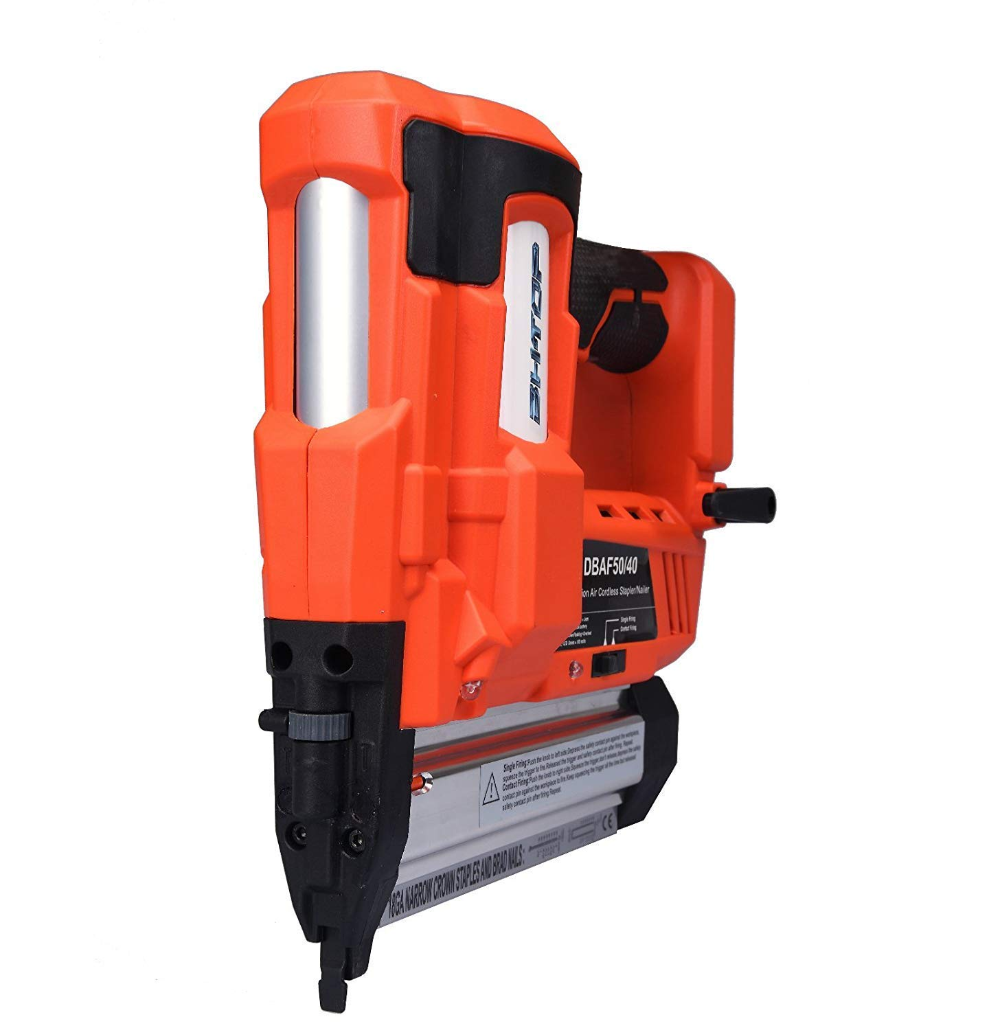 Charger and Carrying Case) 2 in 1 18Ga Heavy Tool With 18Volt 2Ah Lithium-ion Rechargeable Battery 1 Battery BHTOP Cordless Nailer /& Stapler