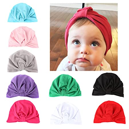 Party Costume BrilliantDay 7 PCS Cute Baby Girls Toddler Kids Turban Headband Hairband Headwrap Headwear for Photography Props
