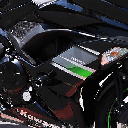 Shogun Kawasaki Ninja 650 Z650 Z 650 2017 2018 2019 Black PA2 No Cut Frame Sliders - 715-4519 - MADE IN THE USA