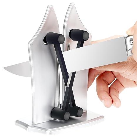 Afilador de cuchillos, afilador de cuchillos manual como se ...