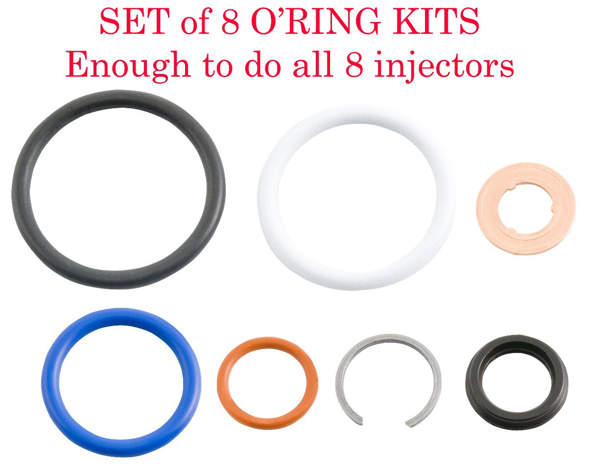 High Quality 03-10 6.0L /& 4.5L Ford Power Stroke,G2.8 Injector Seal Kit