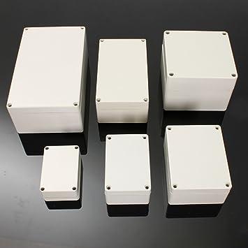 Caja Plastico Conexiones Impermeable, ELEGIANT 1 Caja de Conexiones Electrónica IP65 ABS 6 Tamaño 158 * 90 * 60: Amazon.es: Electrónica