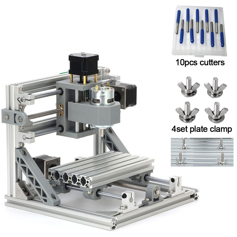 DIY CNC Router Kits 1610 GRBL Control Wood Carving Milling Engraving Machine (Working Area 160x100x45mm, 3 Axis, 110V-240V) By Beauty Star Review