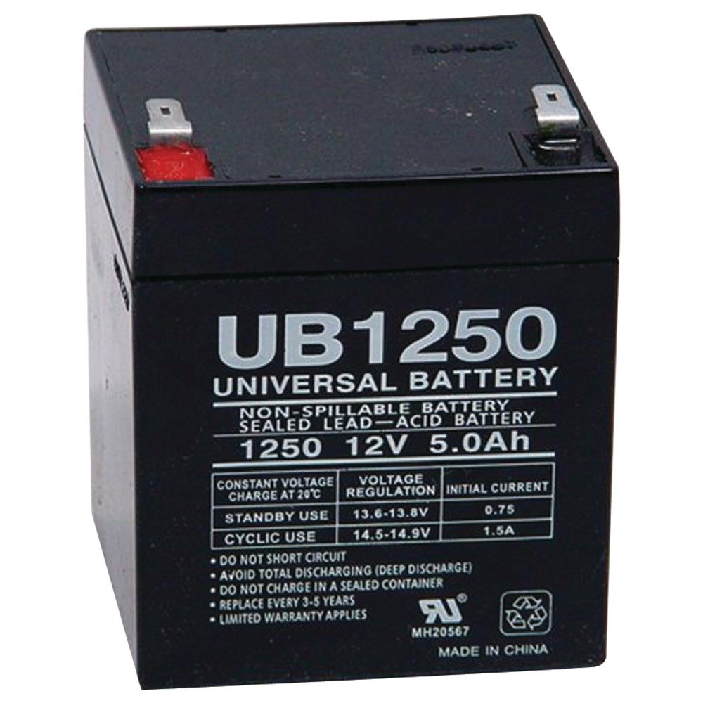 Upg 85983 D5741 Sealed Lead Acid Batteries 12v 5ah 9v Regulated Power Supply Schematic 187 Tab Terminals Ub1250 Home Audio Theater
