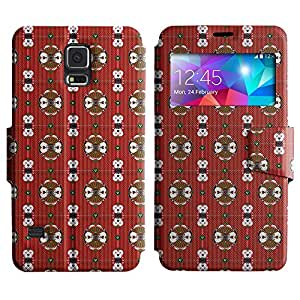 LEOCASE patrón increíble Funda Carcasa Cuero Tapa Case Para Samsung Galaxy S5 I9600 No.1004725