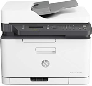 HP Color Laser 179fnw Wireless All in One Laser Printer with Mobile Printing & Built-in Ethernet, Works with Alexa (4ZB97A)