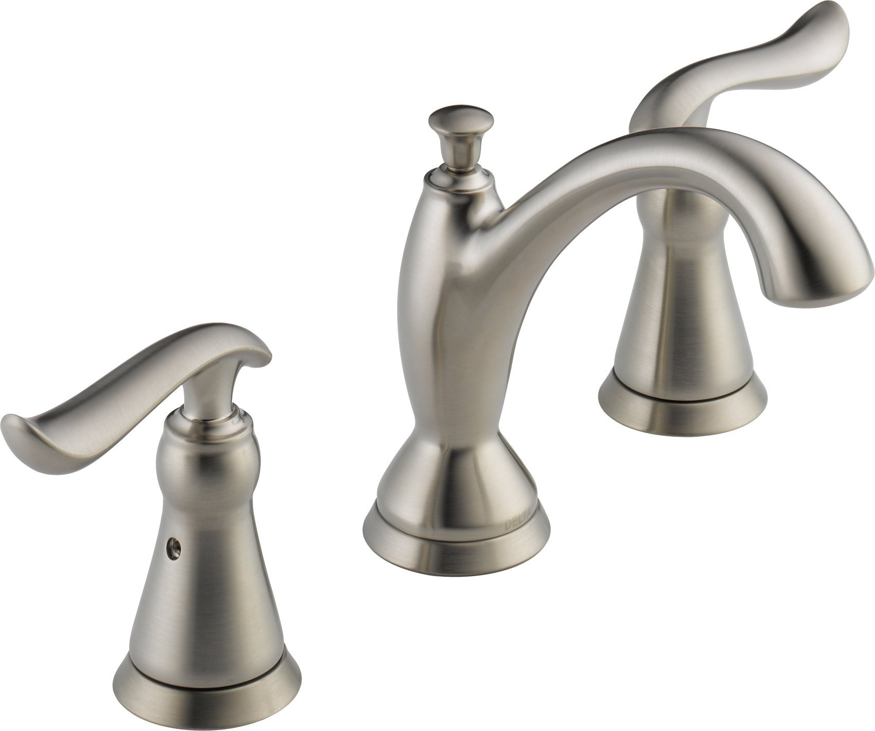 Delta 3594-SSMPU-DST Linden 2-Handle Widespread Bathroom Faucet with Diamond Seal Technology and Metal Drain Assembly, Stainless