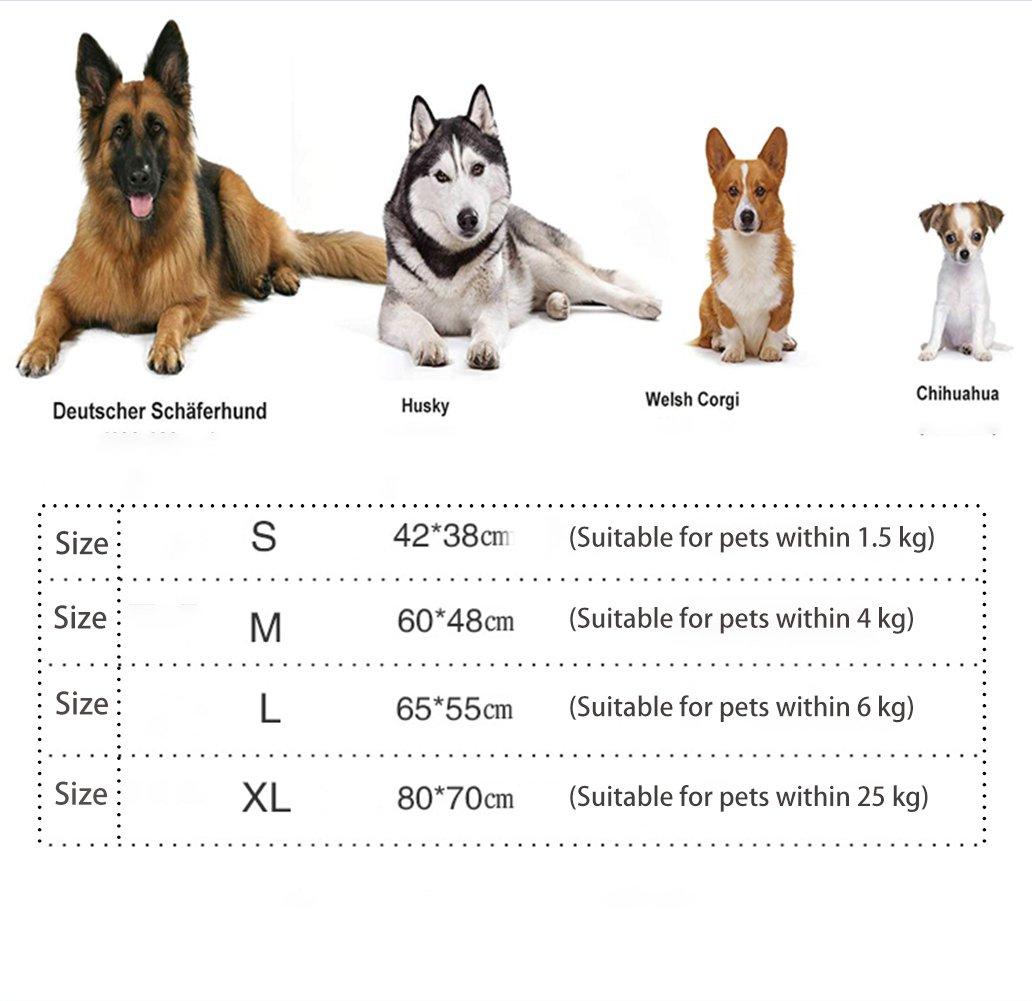 Cama para Perros Gatos Y Otros Animales Domésticos Pequeña Medio Grande, Desmontable Lavado Cómodo Casa para Mascotas,001,M: Amazon.es: Hogar