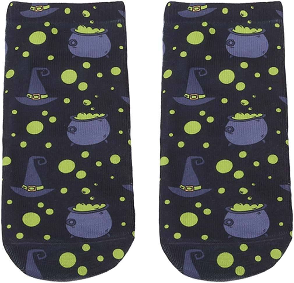 Eleusine 1pair Cute Cartoon Halloween Printed Socks kids Low Ankle Socks