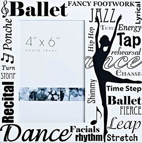 Ballet Collection 8 by 8-Inch Roman Exclusive All Dance Decorative Photo Frame, Holds 4-Inch by 6-Inch Photo (74810) (Dancer Frame)