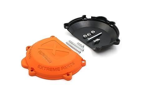 ProRace Ahorro de guardia de protección de tapa del embrague para 2 tiempos (Negro)