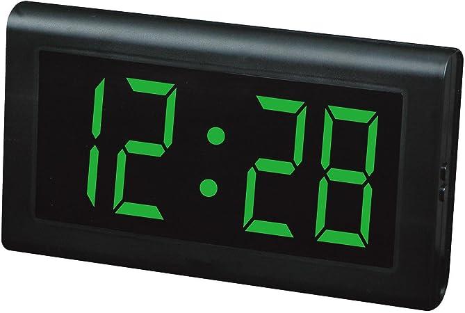 Relojes LED Reloj de mesa, Reloj de pared LED, Números grandes Relojes digitales de pantalla grande , green: Amazon.es: Hogar