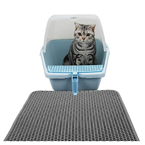 Cat Litter Mat/Alfombra para Gatos, Alfombrilla Rascadora,Estera de Arena para Gatos