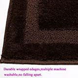 "HEBE 21x34"" Large Bath Rugs for Bathroom Non Slip"