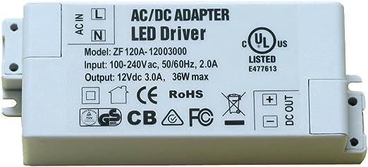 LEDs LED Netzteil Trafo 12V DC 1-60 Watt Transformator für Strips Streifen