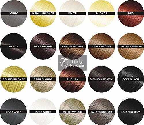 Hair Building Fibers - Light Medium Brown 50 Gram Refill - Refill Your Existing Fiber Bottle. Hair Filler Fibers. Cover Grey Roots Concealer by Finally Hair (50g 50gr 50gram 50 G Gr) Finally Hair Corporation