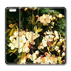 iPhone 6 Plus Case, Fashion Customized Protective PU Leather Flip Case Cover Blossom Tree Branch for New Apple iPhone 6(5.5 inch) Plus