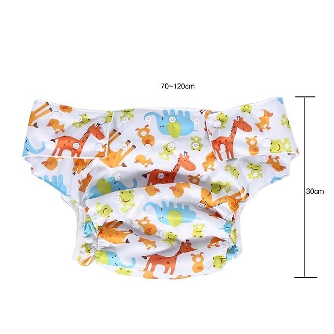Adultos pañales de tela lavable para cuidado de incontinencia - Apertura el bolsillo ajustable reutilizable,adecuado para las personas mayores y las ...