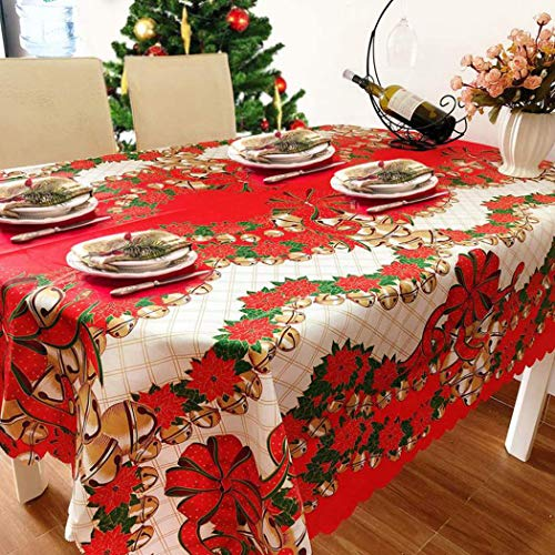 Outgeek Table Cloth, Dining Table Cover Bell Table Decoration Party Table Cover Polyester Center Dining Table Cover for…