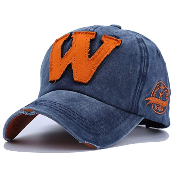 72195d1cbc69 Youstylo Premium Cotton Baseball Sports Summer Cap for Men Blue ...