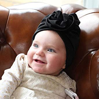 Headband Baby Hat Newborn Baby Girl Soft Cute Turban Knot Rabbit Hospital  Hat Beanie Bonnet Minzhi AMZMinzhi6256 a7bb5083da75