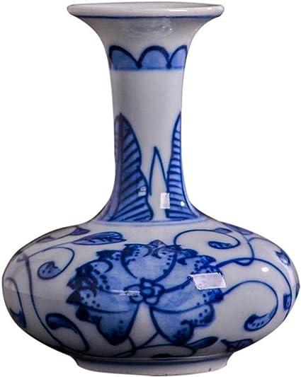 Bhyf Craft Vasi Mini Ceramica Classica Creativa Per Fiori Secchi Decorazione Arte Casa Famiglia Soggiorno Camera Da Letto Ufficio Desktop Blu 7 X 8 Cm Art Vaso Decorativo Amazon It Casa E Cucina