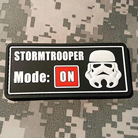 Stormtrooper Mode On - PVC Morale Patch, Hook Velcro Sewn on back, Morale Patch by NEO Tactical - Trooper Model