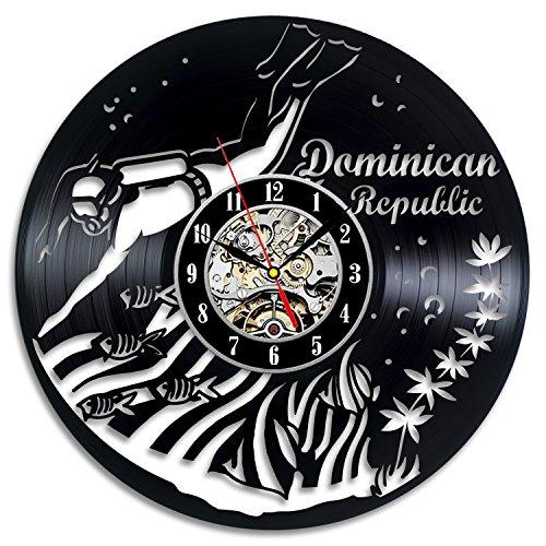 Dominican Gifts Vinyl Record Clock Wall Art Home Decor
