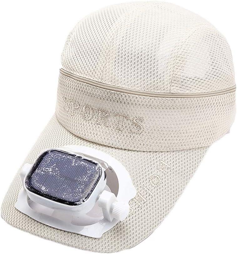 sombrero de Ventilador Solar Adulto Ventilador Protector Solar Tapa de Pesca Ventilador de Carga Sombra Gorra de béisbol Masculino Verano Vacaciones: Amazon.es: Deportes y aire libre