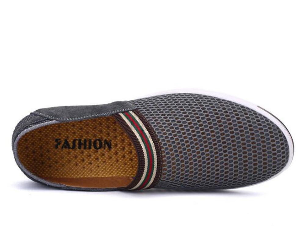 Mesh Slip-ons Loafers Männer atmungsaktiv Casual leichte leichte leichte runde Toe Low Top rutschfeste Ware Freizeitschuhe EU Größe 35-44 3bb0e6