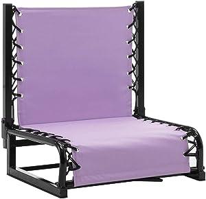 Naomi Home Zero Gravity Bench Riders Portable Stadium Seat Back Support Lilac/Standard