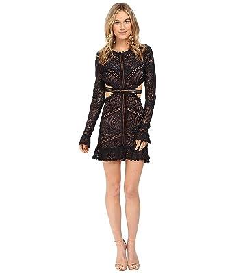 632350eb7d92a For Love & Lemons Women's Emerie Cut Out Dress, Black, L: Amazon.co ...
