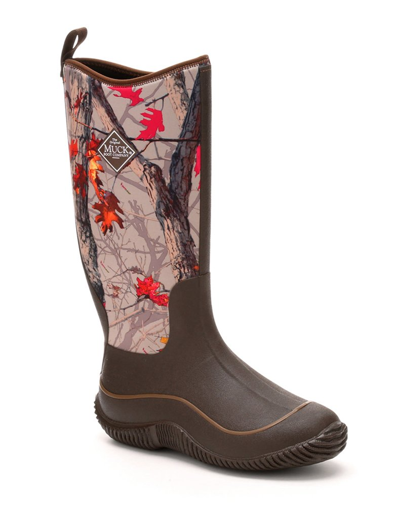 Muck Boots Hale Multi-Season Women's Rubber Boot, Brown/Hot Leaf Camo, 6 M US