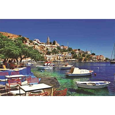 Jigsaw Puzzles for Adults, Italy Positano 1000 Pieces Wooden Puzzles for Adults Kids Family Funny Assembling Games Educational Toys Landscape Glamour Cityscape Pattern Rompecabezas Para Adultos: Home & Kitchen