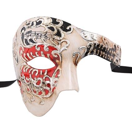 Xvevina Máscara de calidad para hombres del fantasma de la ópera,