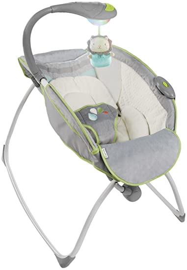 amazon com ingenuity soothing light rocking sleeper vesper baby