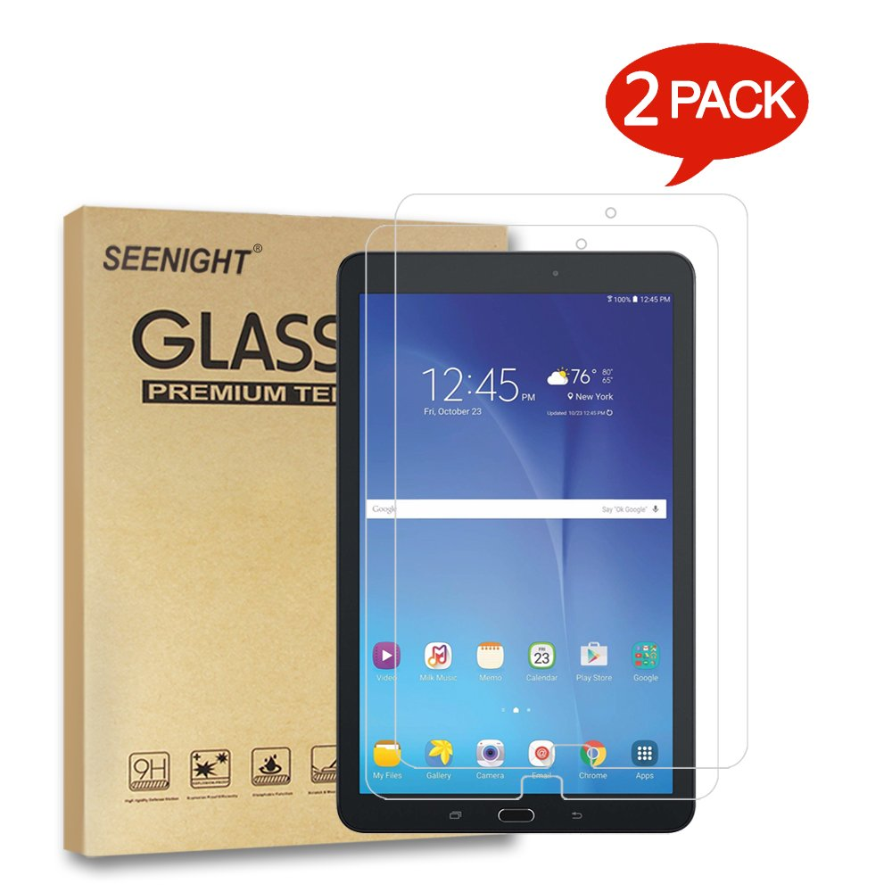 [2 Pack] Samsung Galaxy Tab E 9.6 / Nook 9.6 Screen Protector, Tempered Glass with [9H Hardness] [High Definition] [Scratch Resist] for Samsung Galaxy Tab E 9.6 T560 T567 Tablet