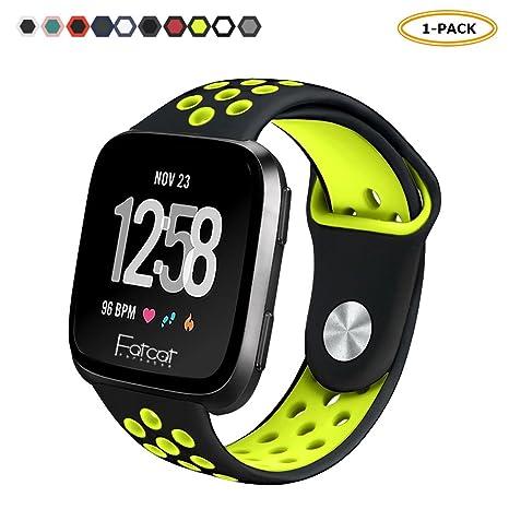 FatcatBand Bracelet pour Fitbit Versa, Bande en Silicone Souple Sangle de Remplacement Reglables Sport Accessorie pour Montre Connectée Fitbit Versa: ...