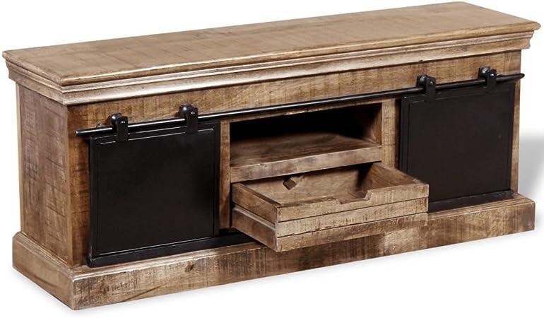 Festnight Mueble para Salon Mesa para TV de Madera 110x30x45 cm: Amazon.es: Hogar